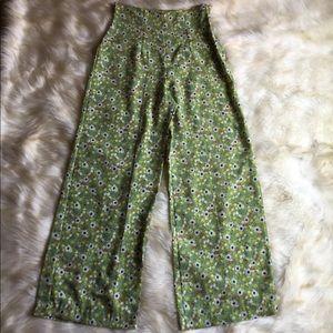 Vintage 90's Rampage green floral high waist pants